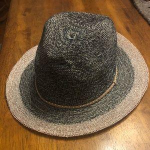 NWT Anthro woven panama hat w/embellished hat band